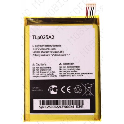 Аккумулятор Alcatel OT 8008 (TLP025A2) 2500mah (оригинал тех. упаковка)