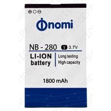 Аккумулятор Nomi i280 (NB-280) 1800mah (оригинал тех. упаковка)