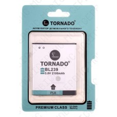 Аккумулятор TORNADO premium Lenovo a399 (BL239) 2000mah (альтернатива)
