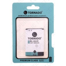 Аккумулятор TORNADO premium LG e400/p940 (BL-44JH/BL-44JR) 1550mah (альтернатива)