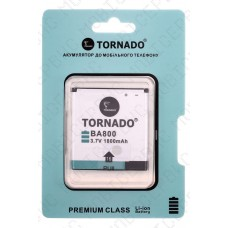 Аккумулятор TORNADO premium Sony lt26i xperia s (BA800) 1500mah (альтернатива)