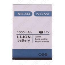 Аккумулятор Nomi i244 (NB-244) 1000mah (оригинал тех. упаковка)
